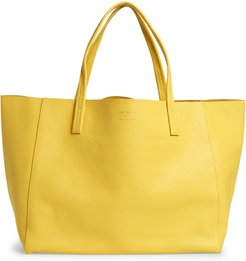 Violet East/west Leather Tote - Yellow