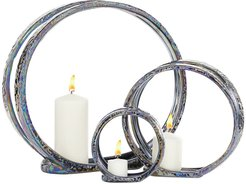 Willow Row Gray Ceramic Candle Holder 3-Piece Set at Nordstrom Rack