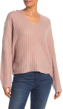 360 Cashmere Naomi Ribbed Cashmere V-Neck Sweater at Nordstrom Rack