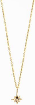 Bony Levy 18K Yellow Gold Pave Diamond Petite Northern Star Pendant Necklace at Nordstrom Rack