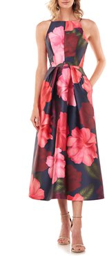 Madeline Floral Mikado Midi Dress
