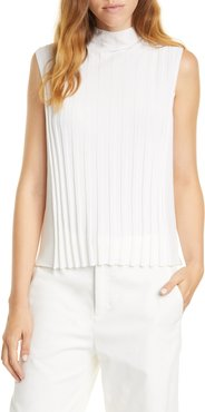 Vince Rib Front Sleeveless Turtleneck Top at Nordstrom Rack