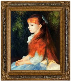 Overstock Art Irene Cahen d'Anvers (1872-1963), 1880 - Framed Oil Reproduction of an Original Painting by Pierre-Auguste Renoir