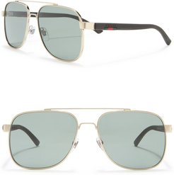 GUCCI 60mm Rectangle Sunglasses at Nordstrom Rack