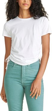 Tazi Ruched Side Cotton T-Shirt