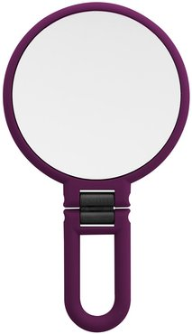 UPPER CANADA SOAPS Danielle Soft Touch Hand Held Foldable Mirror - Eggplant at Nordstrom Rack