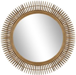 """Willow Row Large Round Natural Wicker Wall Mirror - 32"""" at Nordstrom Rack"""