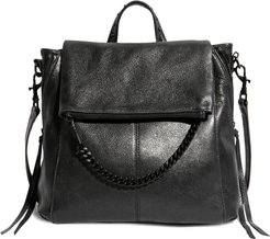 No B.s. Leather Convertible Backpack - Black