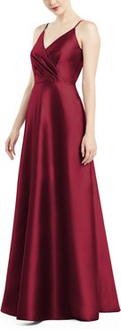 Satin Twill A-Line Gown