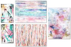 PTM Images Pastel Abstracts 5-Piece Set at Nordstrom Rack