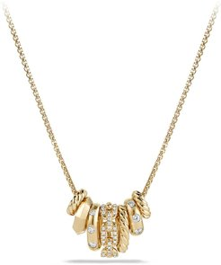 Stax Pendant Necklace With Diamonds In 18K Gold