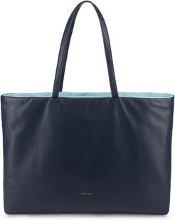 Pillow Leather Tote - Blue