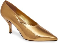 Metallic Pointed Toe Pump