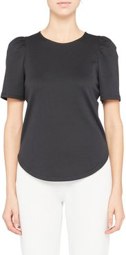 Classic Ruched Short Sleeve Sateen T-Shirt