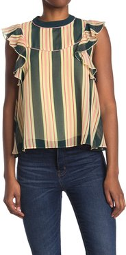 Scotch & Soda Allover Printed Short Sleeve Blouse at Nordstrom Rack