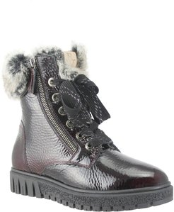 Isla Waterproof Crinkled Boot With Faux Fur Lining