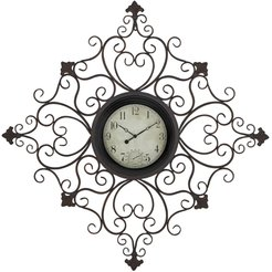 """Willow Row Traditional Tin Scrollwork Analog Wall Clock - 44"""" x 44"""" at Nordstrom Rack"""