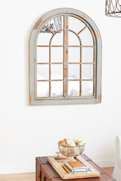 Willow Row Farmhouse Classic Gray Arched Window Design Decorative Wall Mirror at Nordstrom Rack