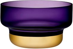 Nude Glass Contour Bowl - Small with Purple Top and Golden Base at Nordstrom Rack