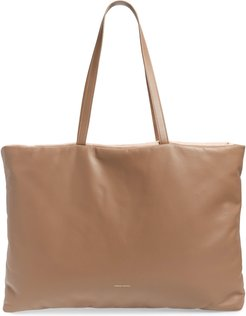 Pillow Leather Tote - Beige