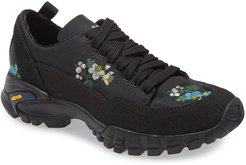 Max Floral Embroidered Hiking Sneaker