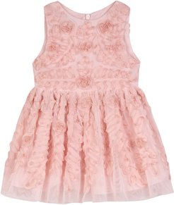 Girl's Pippa & Julie Soutache Tulle Fit & Flare Dress