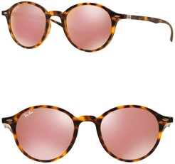 Ray-Ban Phantos Tech Liteforce 50mm Round Sunglasses at Nordstrom Rack