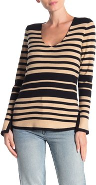 Cyrus Striped V-Neck Pullover Sweater at Nordstrom Rack