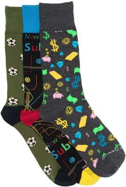 Unsimply Stitched Crew Socks - Pack of 3 at Nordstrom Rack