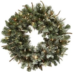 """NEARLY NATURAL 30"""" Lighted Frosted Pine Wreath at Nordstrom Rack"""