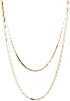 Liquid Gold Double Layered Necklace