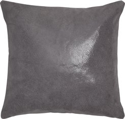 Moonscape Leather Accent Pillow