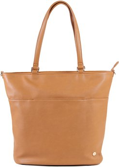 Infant Little Unicorn Citywalk Faux Leather Diaper Tote - Brown