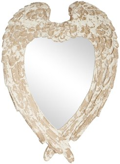 """Willow Row Oversized Vintage Style Heart Shaped Wall Mirror with Distressed Finish - 31""""x45"""" at Nordstrom Rack"""