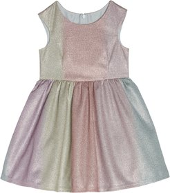 Infant Girl's Pippa & Julie Rainbow Shimmer Party Dress