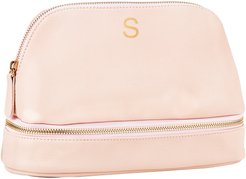 Monogram Vegan Leather Cosmetics Case Pink S