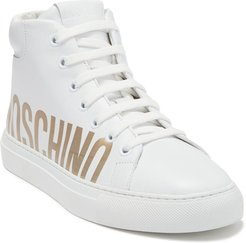 MOSCHINO Logo Print High Top Sneaker at Nordstrom Rack