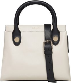 Vinniy Mini Leather Tote - White