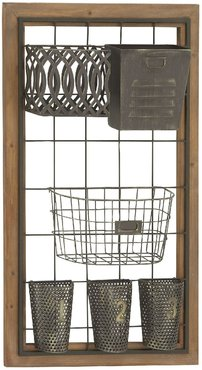 Willow Row Wood & Metal Wall Storage at Nordstrom Rack