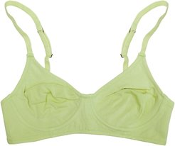 Plant Dyed Organic Cotton Full Cup Wire Free Bra
