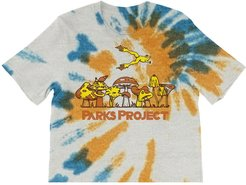 Leaping Frog Tie Dye Boxy Graphic Tee