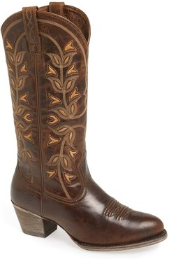 'Desert Holly' Embroidered Western Boot