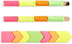 Geo Tile 3-Pack Hair Clips