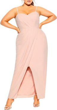Plus Size Women's City Chic Drape Sleeveless Maxi Dress