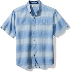 Ocean Fade Short Sleeve Button-Down Shirt