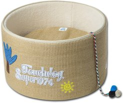 Pet Life Touchcat 'Claw-ver Nest' Rounded Scratching Cat Bed with Teaser Toy at Nordstrom Rack
