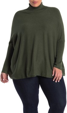 JOSEPH A Easy Solid Turtleneck Poncho Sweater at Nordstrom Rack
