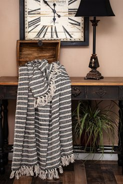 """Parkland Collection Ada Casual Beige 52"""" x 67"""" Woven Handloom Throw at Nordstrom Rack"""