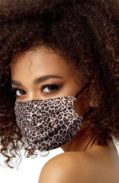 Leopard Print Satin Adult Face Mask