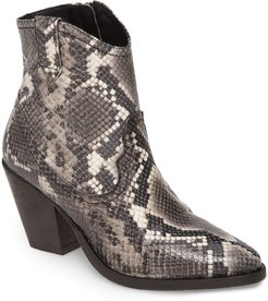 ALLSAINTS Rolene Snake Embossed Leather Bootie at Nordstrom Rack
